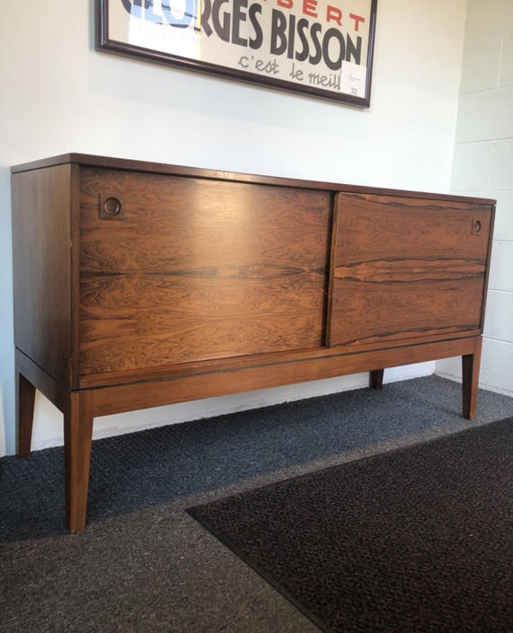Vintage Rosewood Mid Century Modern Credenza Cabinet Storage with Drawers UK Import by BigWhaleConsignment
