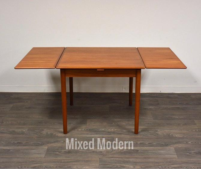 Square Teak Danish Dining Table by mixedmodern1
