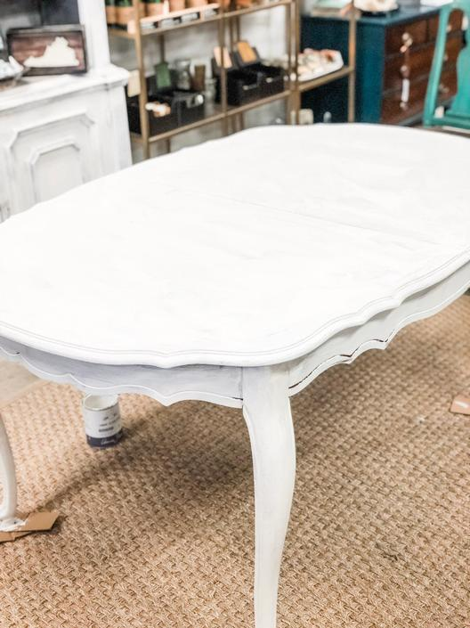 White french dining table by StylishPatina