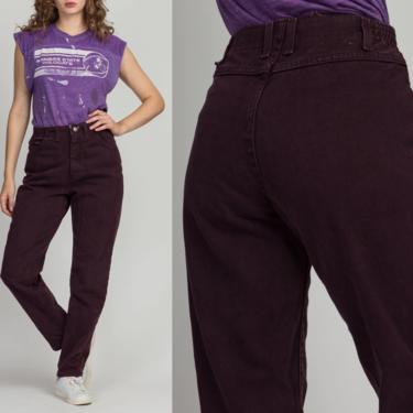 "Vintage High Waisted Purple Lee Jeans - Medium, 27""-29"" | 80s 90s Grunge Denim Tapered Mom Pants by FlyingAppleVintage"