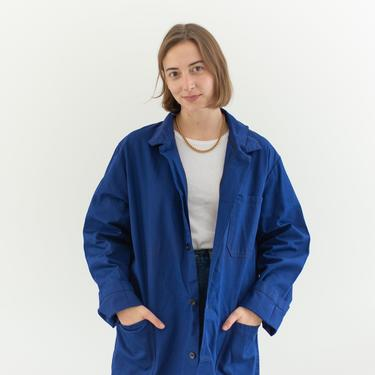Vintage Blue Chore Coat   Unisex Cotton Military Utility Work Jacket   Made in Czech Republic   M L   IT086 by RAWSONSTUDIO