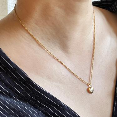 Zoey gold heart pendant necklace, gold heart, pendant necklace, 14K gold, gift for her, gold necklace for women, gold heart necklace by MelangeBlancDesigns