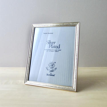 Loui Michel vintage silver plated 8 x 10  picture frame - wedding frame by ionesAttic
