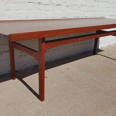 Mid Century Danish Modern Solid Teak Coffee Table by Seffle by VintageVaultTulsa