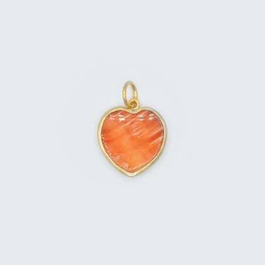 Larger Oyster Heart Pendant