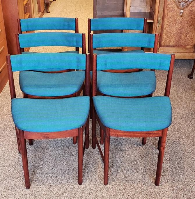 Item #Q49 Set of Six Danish Modern Rosewood Dining Chairs c.1960s