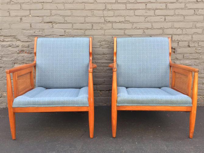 Mid-Century Modern Cane Lounge Chair