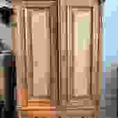 Antique English pine armoire, 45