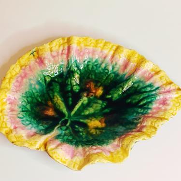 Majolica Begonia Leaf Plate II