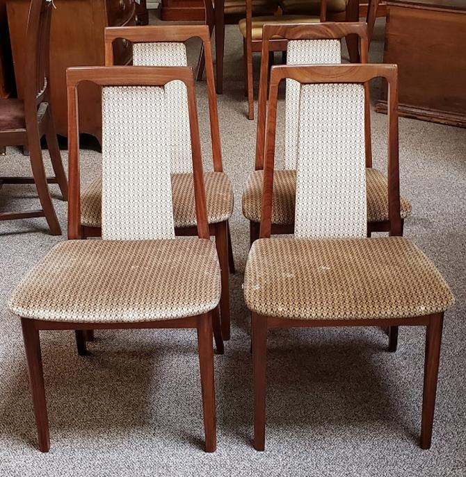 Item #S2008 Set of Four G-Plan Vintage Rosewood Frame Dining Chairs c.1960s