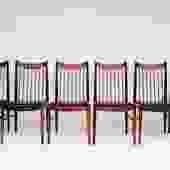 ARNE VODDER FOR SIBAST SET OF 6 ROSEWOOD DINING CHAIRS