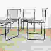 Set of 4 1970s Italian Spaghetti Chairs by Giandomenico Belotti for FlyLine
