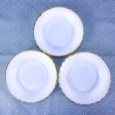 Milk Glass Dish Set / Mid Century Fire King Milk Glass by blackwellhabitat