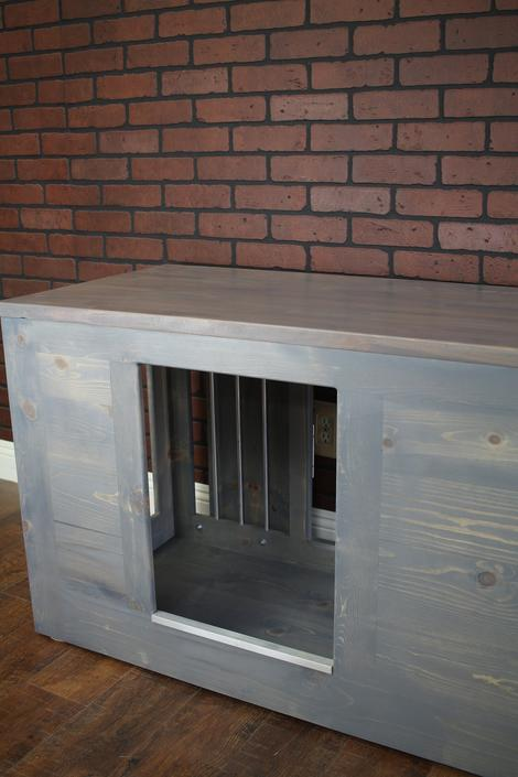 Add on Doggie Door Opening for our Dog Crates by TheRusticForest