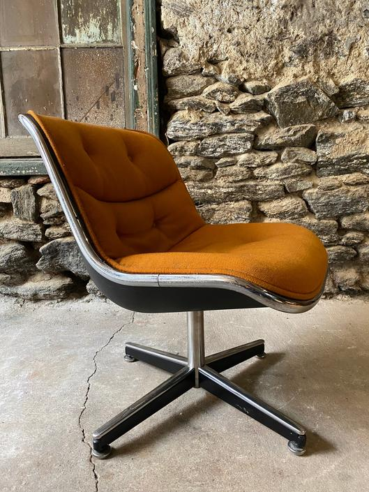 Mid century desk chair knoll office chair Charles Pollock desk chair by VintaDelphia