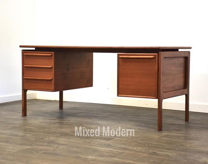 Danish Modern Teak Executive Desk by mixedmodern1