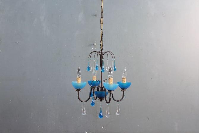 Aqua Raindrops Chandelier