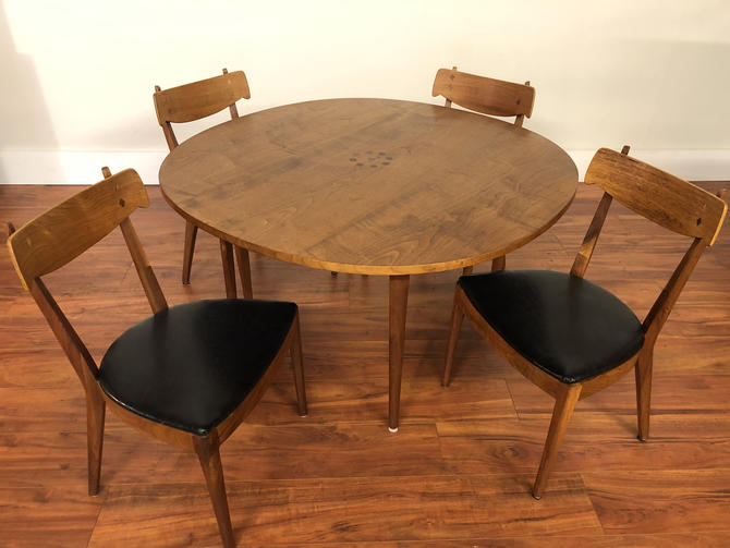 Drexel Declaration Party Table & 4 Chairs by Vintagefurnitureetc
