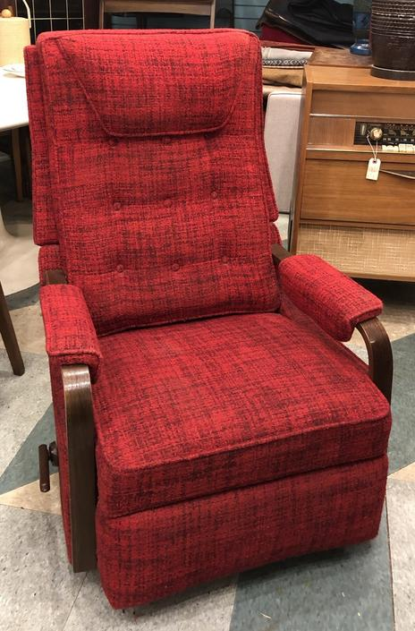 Lane Red Upholstered Recliner