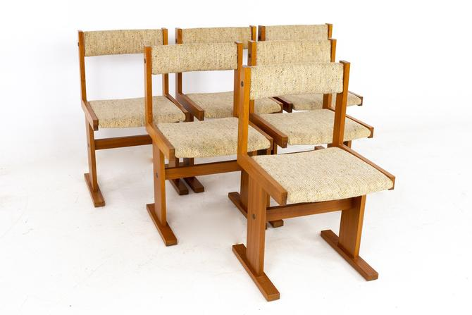Gangso Mobler Mid Century Teak Dining Chairs - Set of 6 - mcm by ModernHill