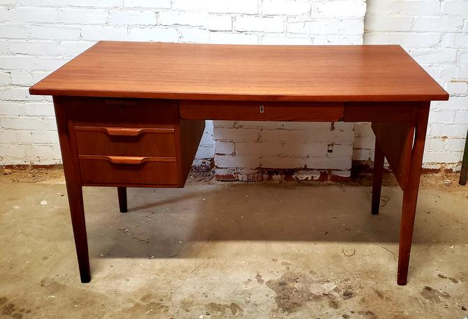 Petite Danish Modern Teak Desk
