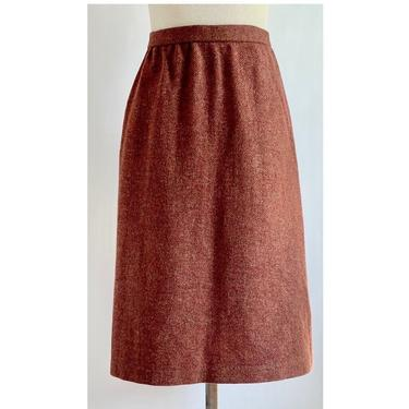 1970's Wool Skirt Large Beautiful speckled Rust by BeggarsBanquet
