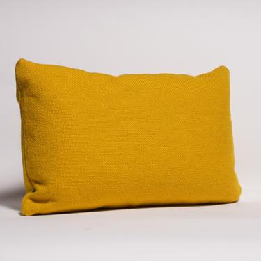 "Maharam Hallingdal ""Mom"" Lumbar Yellow Wool Throw Pillow by midcenTree"