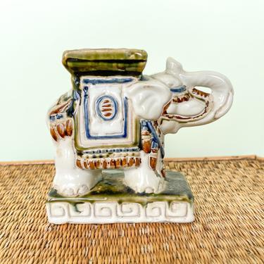 Miniature Elephant Garden Stool