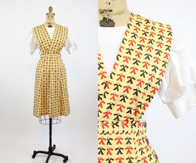 1950s SAILOR print novelty pinafore dress xs | new spring by CrushVintage