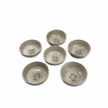 Vintage Midwinter Stoneware Wedgwood Natural Round Mosaic Cereal Bowls, Set of 6 by Northforkvintageshop
