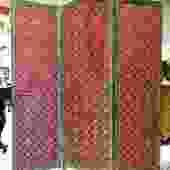 Oak Acorn Red Victorian Screen