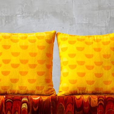 Warren Platner Velvet Pillows by FandFVintage
