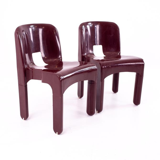Joe Colombo Kartell Mid Century Plastic Chairs - Pair - mcm by ModernHill
