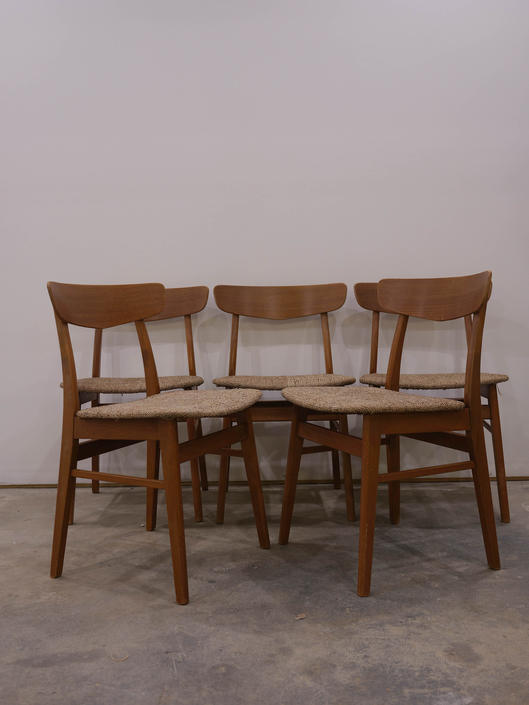 Set of 5 Vintage Danish Modern Farstrup Dining Chairs by FarOutFindsNYC