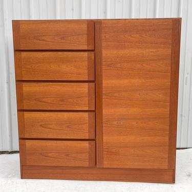 Scandinavian Modern Teak Armoire or Dresser by secondhandstory
