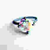 Prism Opalescent Topaz Gemstone Ring in Handmade Sterling Silver Setting by RachelPfefferDesigns