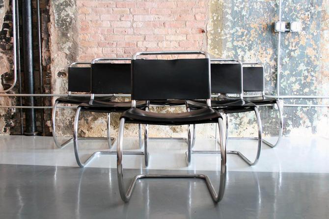 Vintage set of 6 Mies Van Der Rohe 'MR' chairs