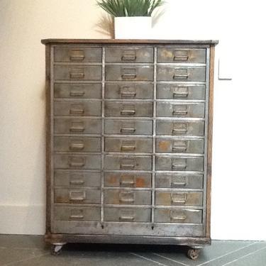 Vintage industrial multi drawers steel cabinet. by SouliDesign