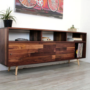 Mid Century Minimalist Record Storage Console by jeremiahcollection