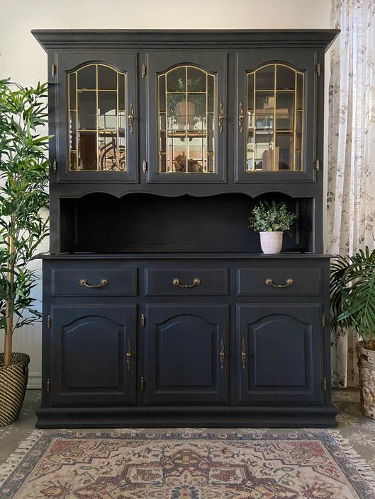 China Cabinet Display Cabinet Hutch *Local Pick Up Only by BluePoppyFurniture