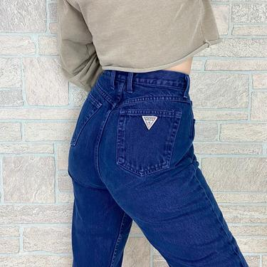 Guess Navy Blue High Waisted Jeans / Size 27 28 by NoteworthyGarments