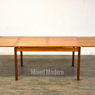 Danish Teak Draw Leaf Fining Table by Ansager Mobler by mixedmodern1