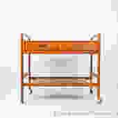 Vintage Danish teak bar cart