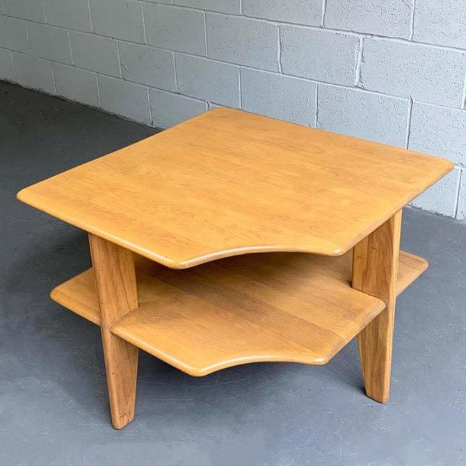 Russel Wright Tiered Maple Corner Table