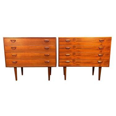 Pair of Vintage Danish Mid Century Modern Chest of Drawers Dressers by Kai Kristiansen by AymerickModern