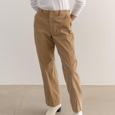 Vintage 30 Waist Light Brown Corduroy Trousers | Tan High Rise | Made in USA | by RAWSONSTUDIO