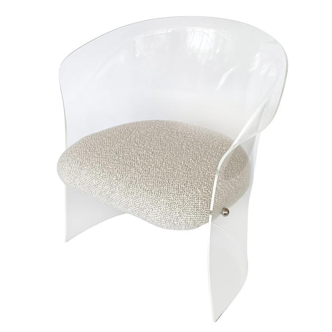 Lucite Barrel Back Chair