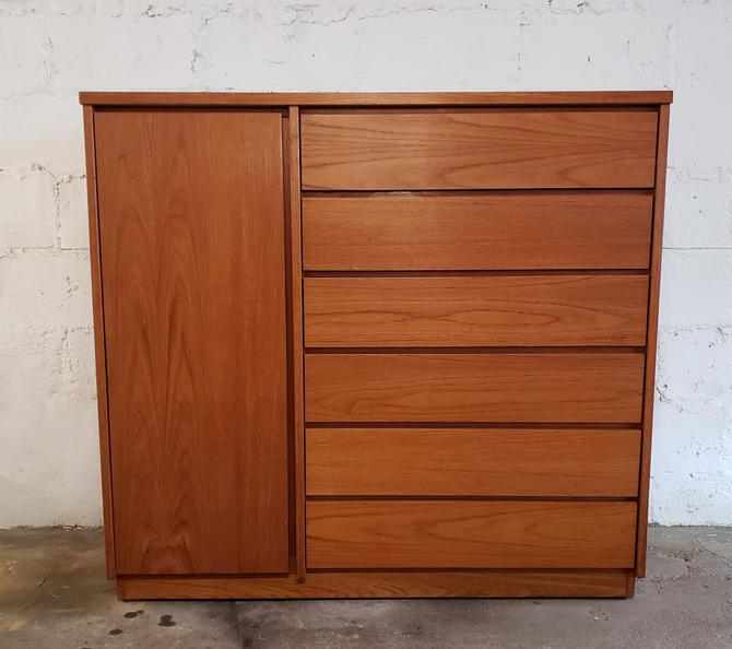 Mid Century Scandinavian Modern Teak Gentleman's Chest Dresser by WrightFindsinMCM