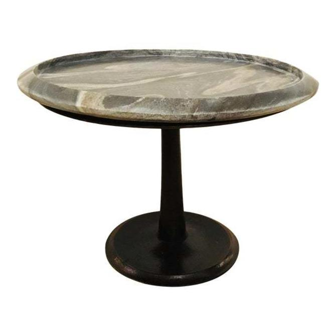 Arteriors Modern Medium Marble Webber Accent Table