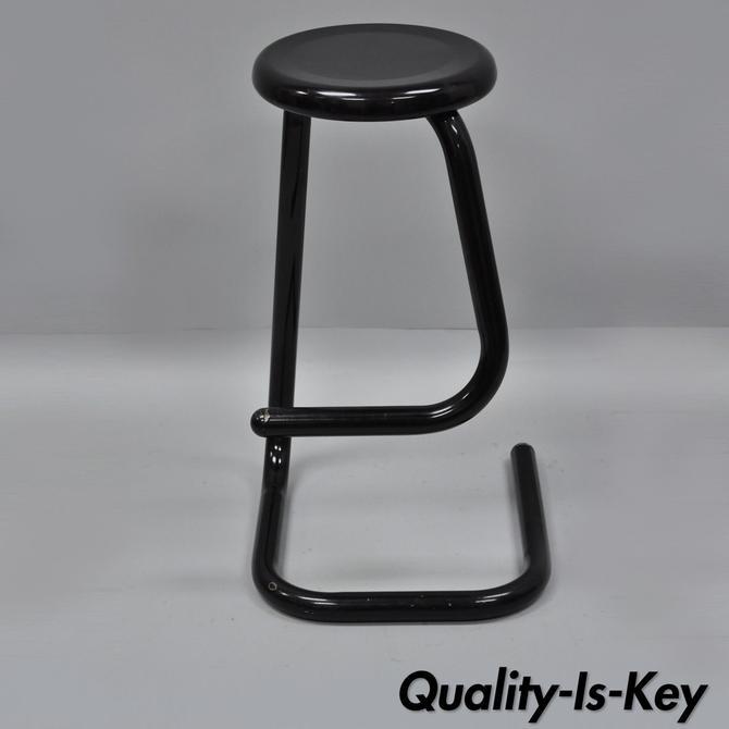 Enjoyable Kinetics Paperclip K700 Black Steel Barstool Bar Stool Chair Inzonedesignstudio Interior Chair Design Inzonedesignstudiocom